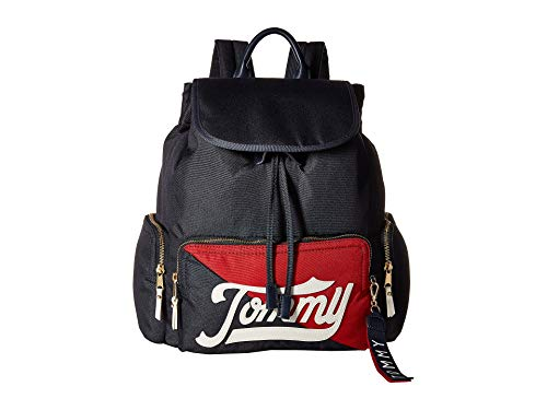- Tommy Hilfiger Women's Daly Flap Backpack Navy/Multi One Size