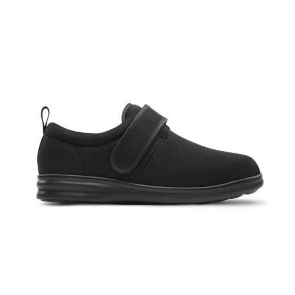 Dr. Comfort Men's Carter Black Stretchable Diabetic Casual Shoes by Dr. Comfort