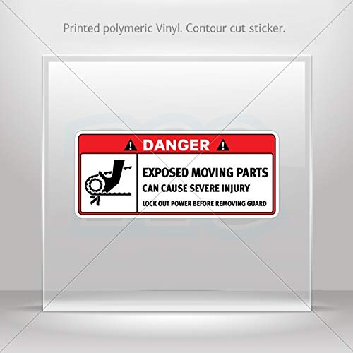 Decals Decal Warning Exposed Conveyors and Moving Parts Can Cause Seve (7 X 3.01 Inches)