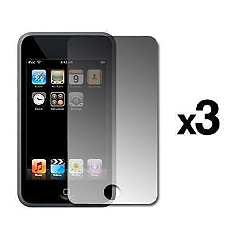 3 Pack of Premium Reusable LCD Screen Protectors for Apple iPod Touch 3rd Generation 32GB / 64GB [Accessory Export ()