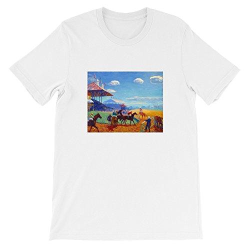 1908 Horse (Horse Racing Track 1908–1909 William James Glackens, Short-Sleeve Unisex T-Shirt)
