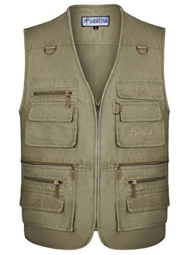 Sport Pêche Homme Veste Manches Outdoor poches De Photographie Kaki Gilets Devoyage Pour Coton Multi Sans Léger Jjzxx SxnZwS