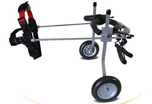 Verstellbare Hundeleine Rollstuhl für kleine Hunde (XS), Gewicht 5bis 20lbs, Hinterbeinen Rehabilitation, leichtes