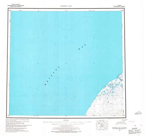 YellowMaps Bristol Bay AK topo map, 1:250000 Scale, 1 X 2 Degree, Historical, 1963, Updated 1967, 22.9 x 24.5 in - Tyvek