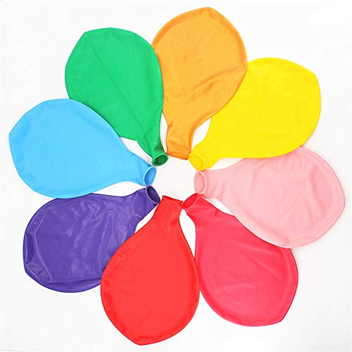 36 Inch Giant Latex Jumbo Balloons, 8 Pack 36'' Assorted Colors large Balloons for Photo Shoot/Birthday/Wedding Party/Festival/Event/Carnival Decorations, Mix Color (Premium Helium Quality) ... ()