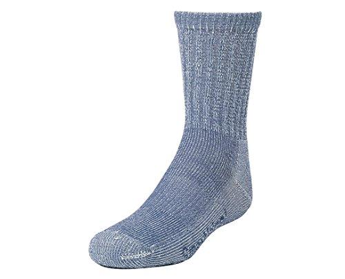 SmartWool Kids' Hike Light Crew Socks (Denim) Medium Denim Nylon Cap