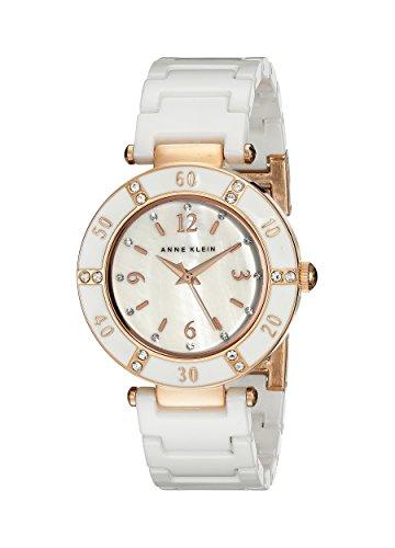 Anne klein women 39 s 109416rgwt swarovski crystal accented watch import it all for Anne klein swarovski crystals