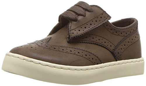 Polo Ralph Lauren Kids Boys' Alek Oxford EZ Sneaker, Chocolate Burnished, M050 M US Toddler
