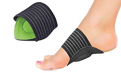 Plantar Fasciitis Arch Support for Flat and Achy Feet, Heel Spurs, Fallen Arches and Foot Pain Relief 2 Gel Cushioned Sleeves, Padded Compression Insoles for Men and Women (Green) (Best Pointe Shoes For High Arches)