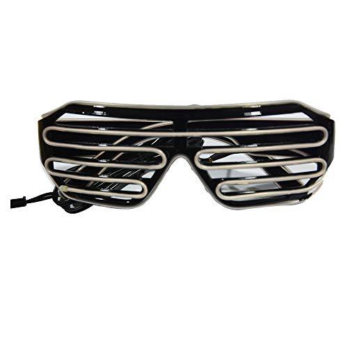 Yu2d  Light Up Shades Glasses Glow LED Flashing Blinking Sunglasses Rave Party Eyewear(Sky Blue)]()