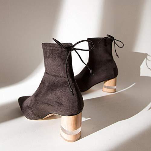 elásticas elásticas elásticas de Zapatos y Botines Grueso otoño Martins Noche Moda Botas dbb14e