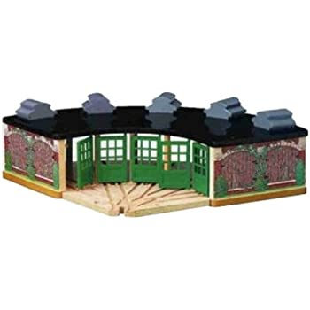 Amazon Com Thomas And Friends Wooden Railway Roundhouse