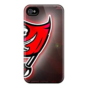 Rugged Skin Case Cover For Iphone 4/4s- Eco-friendly Packaging(tampa Bay Buccaneers)