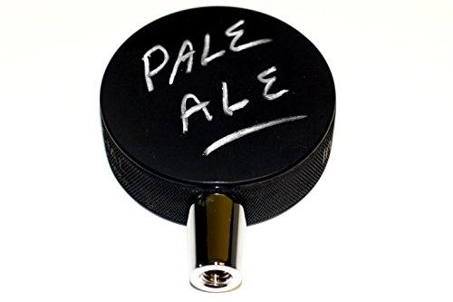 Black Chalkboard Hockey Puck Beer Tap Handle ()