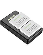 Neewer Replacement LP-E8 Rechargeable Battery Charging Set for Canon (2-Pack 1140mAh Camera Batteries and Micro USB Input Dual Charger, 100% Compatible with Original Safety Protection)