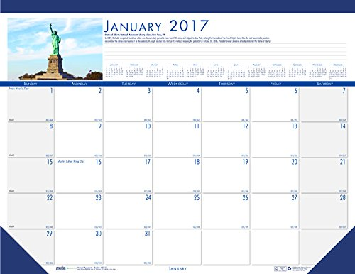 House of Doolittle 2017 Monthly Desk Pad Calendar, Earthscapes National Monuments, 22 x 17