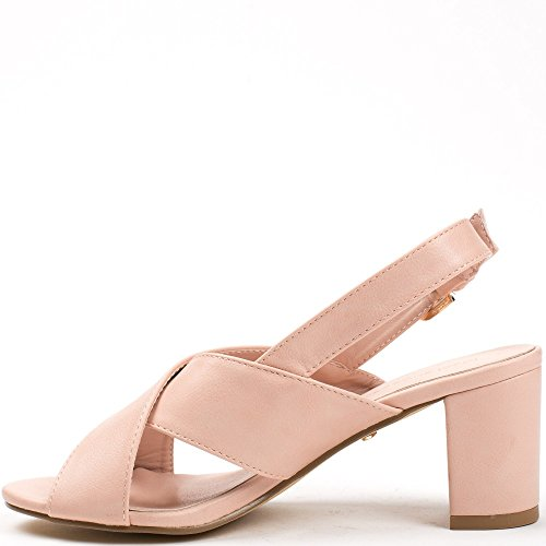 Ideal Shoes, Damen Sandalen Rose