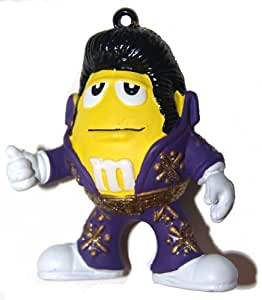 Amazon.com : M&M's Elvis Christmas Ornament - Purple ...
