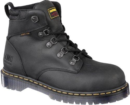 Dr Marten Hiker Boots - Dr. Martens Holkham Steel Toe Hiker,Black,8 UK/10 M US Women's/9 M US Men's