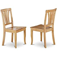 Dining Side Chair in Oak Finish - Set of 2