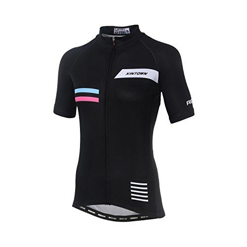 - DuShow Women Cycling Jersey Short Sleeve Cycling Shirt Bicycle Bike Top Elegant(L)