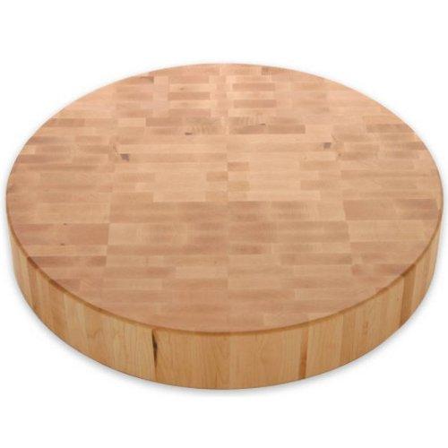 (J.K. Adams 18-Inch Round Maple Wood End-Grain Cutting Board)