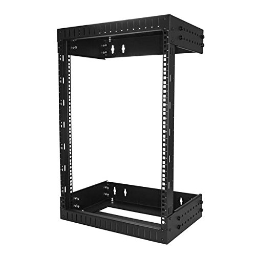 (StarTech.com Wall Mount Server Rack - 15U Rack - 12-20in Adjustable Depth - Open Frame - Network Rack - Computer Rack - Equipment Rack)