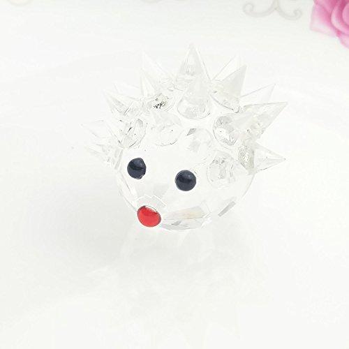 Crystal Hedgehog (Waltz&F Clear Crystal Hedgehog Collectible Figurine Mini Animal Statue ,Size Approx)