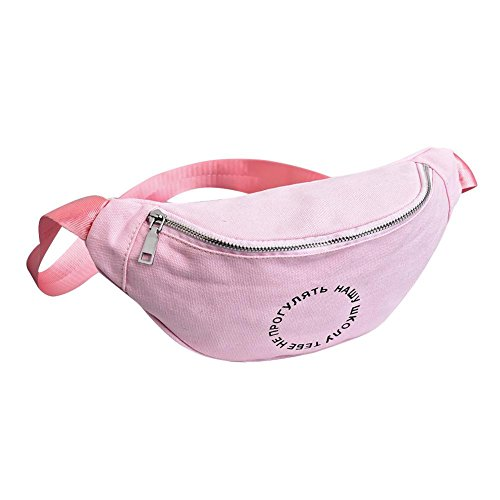 Bag Fanny Shoulder Casual Pack Waist Women Ecotrump Pouch Canvas Belt Chest Pink Satchel fxzqXxY8
