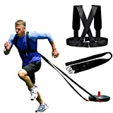 Sled Harness Tire Pulling Harness Fitness Resistance Speed Agility Training Workout, Weight Sled Harness Kits -Adjustable Padded Shoulder Strap