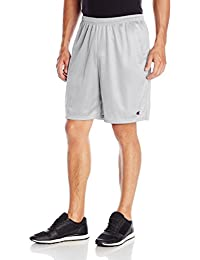 Long Mesh Men's Shorts with Pockets, 3XL-Athletic Gray