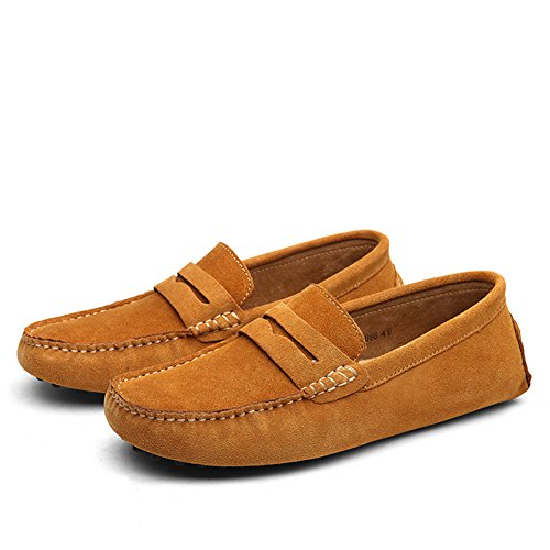 Moccasin Boat On Penny Mens Flats Go Loafers Brown Driving Shoes Shoes Tour Slip 6A1xqxI