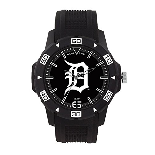 Gametime Watches MLB- Detroit Tigers Automatic Series Watch, Black, 49.50mm ()