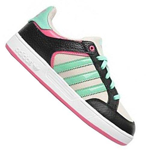 Adidas Originals Kids Infant Training shoe Girl's Black pink elasticated laces anti-slip sole G99140 NOIR/ECRU/VERT/ROSE zt5CUe