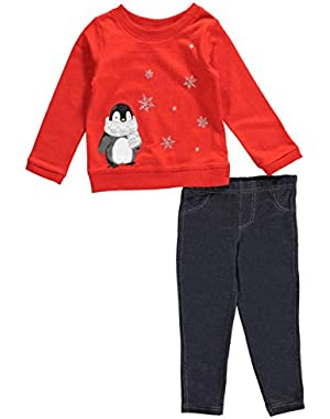 Little Girl 2-Piece Pullover & Jegging Set