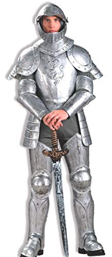 Forum Knight In Shining Armor Complete Costume, Silver, One - 14' Shield