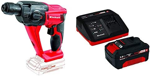 Einhell 4513812 Martillo Percutor Neumatico TE-HD 18 li 12 W, 18 V, Rojo Sin batería ni cargador + Power X-Change Kit cargador con batería, tiempo de ...