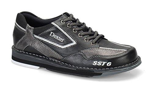 Dexter SST 6 LZ Wide Bowling Shoes, Black/Alloy, 7.0