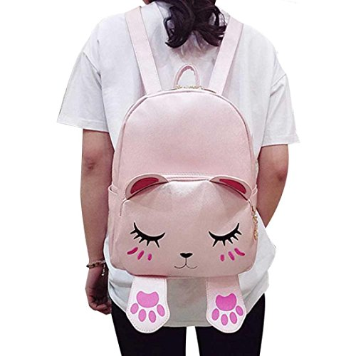 Legal Leather Street (Women Girl School Backpack Daypacks,Realdo Cute Cartoon Cat Shoulder Bag for Teenage)