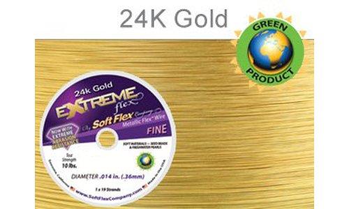 Soft Flex Extreme Flex Wire 19-Strand.014 x 10', Gold -