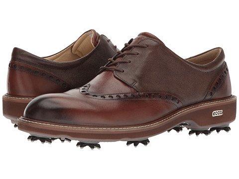(エコー) ECCO メンズゴルフシューズ靴 Golf Lux [並行輸入品] B071D9BPLS 41 (US Men's 7-7.5) (n/a) D - M Bison/Stone