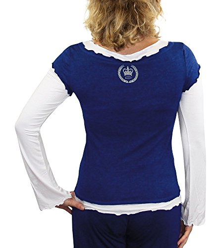 JOOP! p 8201–24725 bodywear t-shirt à manches longues bleu royal