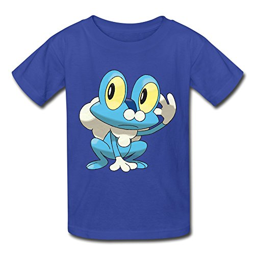 [Ambom Youth Froakie Kids Boys And Girls 100% Cotton T-Shirt Size S RoyalBlue] (Froakie Costume)