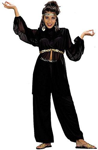 Black Harem Dancer Costumes (Adult Black Harem Dancer Costume Size: Women's X-Small 3-5)