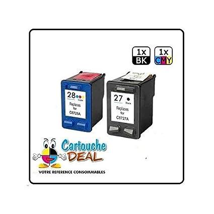 HP27 HP28-Juego de 2 cartuchos de tinta para HP PSC 1215 1213 1217 ...