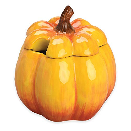 Ceramic Calabaza Soup Tureen in Orange - Dishwasher safe