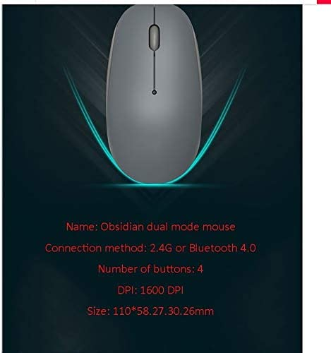 KQHSM Obsidian Bluetooth Wireless Dual-Mode Mouse Office Game Business Office Wireless Mouse Bluetooth Mouse