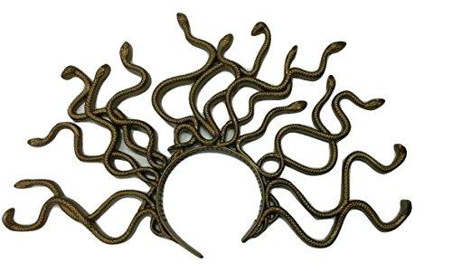 Medusa Headpiece Costume (Gold Medusa Headband)