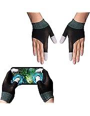 SOAREO PUBG Mobile Game Finger Sleeve, touchscreen-handschoenen, geleidende vezelvingertoppen, ademend, zweetbestendig, antislip, ultradun, geschikt voor Android iOS mobiele telefoonspelletjes. (paar)