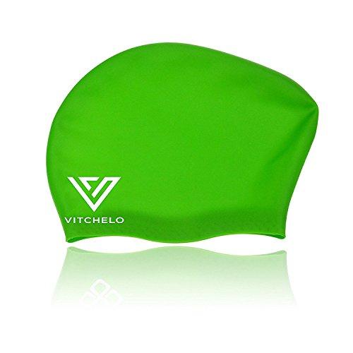Waterproof Silicone Long Hair Swim Cap That keep Hair Dry by ...
